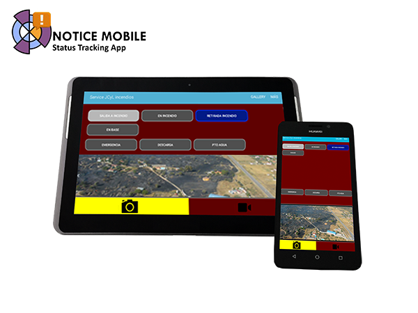 NoticeMobile, capture and stream georeferenced images and videos